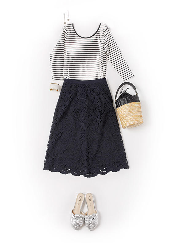 CORD LACE SKIRT